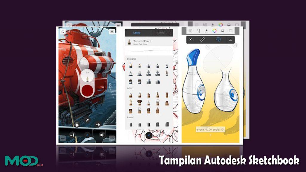 Tampilan Autodesk Sketchbook