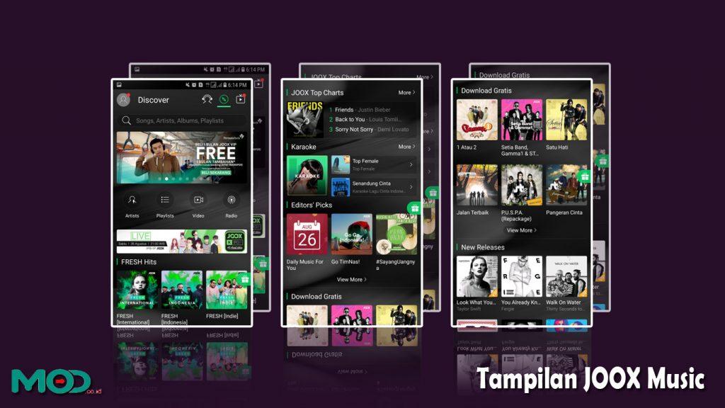 Tampilan JOOX Music