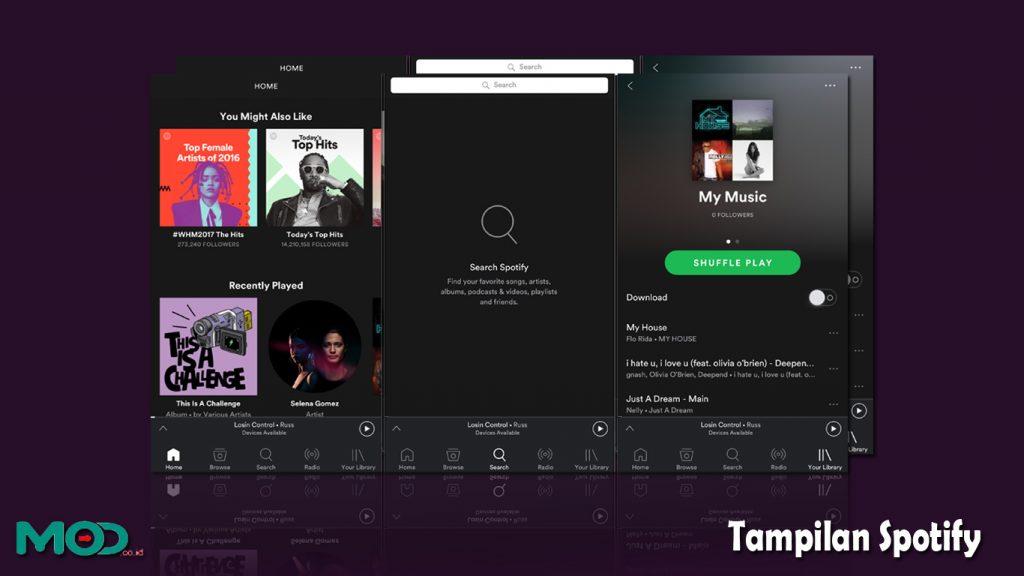 Tampilan Spotify