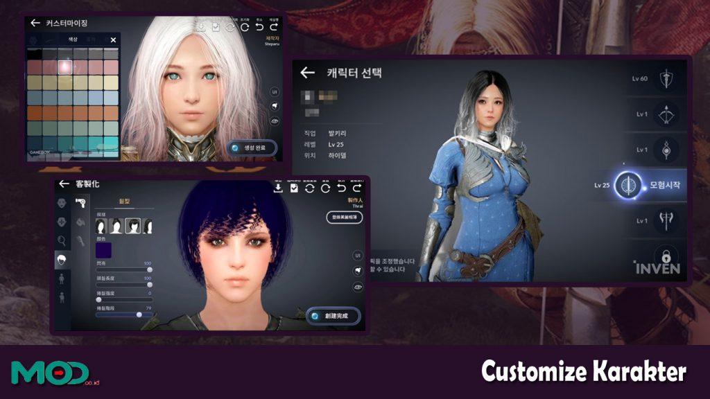 customize karakter