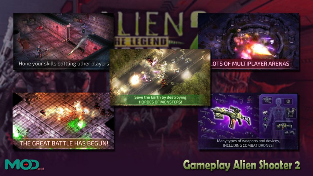 Gameplay Alien Shooter 2