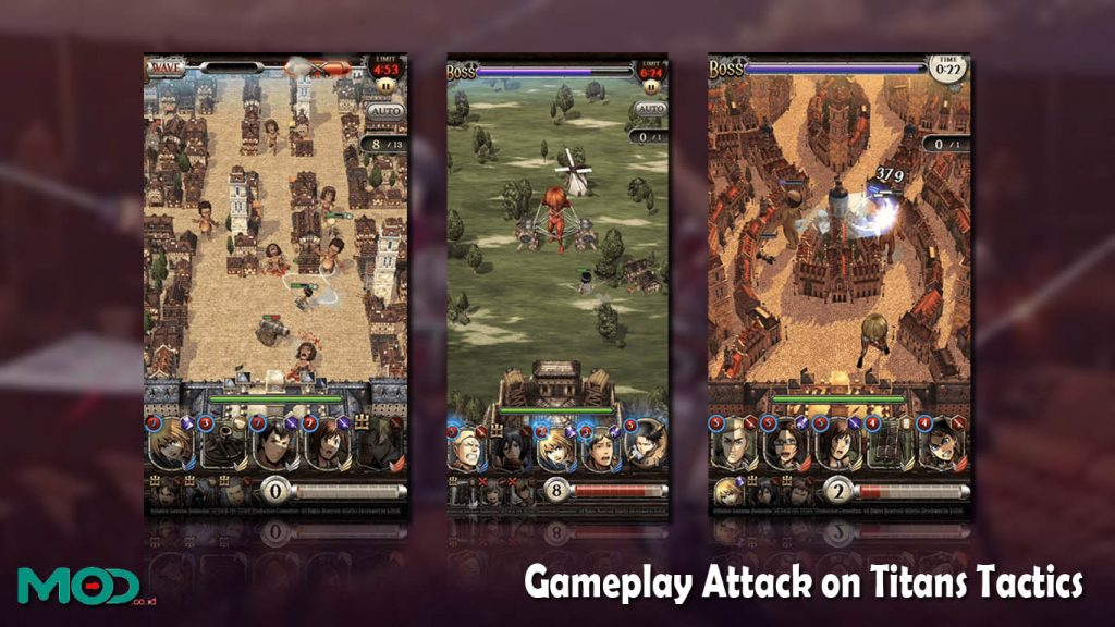 Gameplay Attack on Titans Tactics