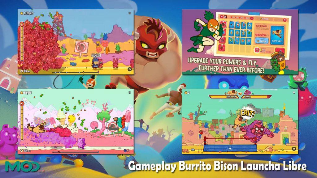 Gameplay Burrito Bison Launcha Libre