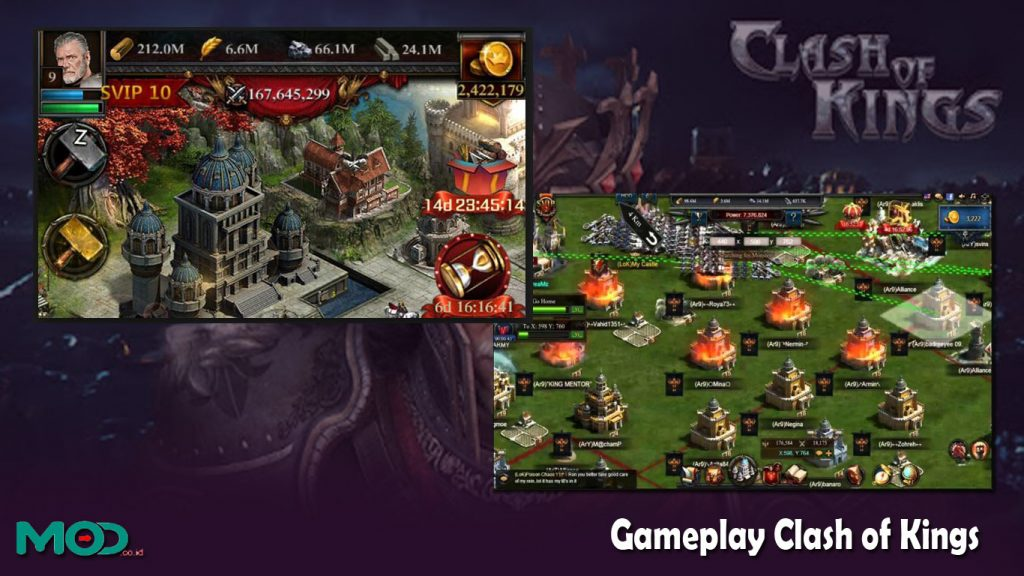 Gameplay Clash of Kings