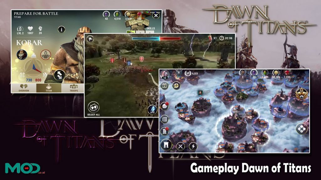Gameplay Dawn of Titans