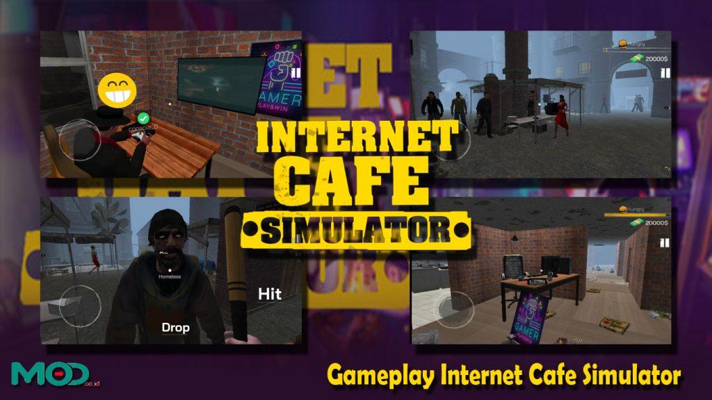 Gameplay Internet Cafe Simulator