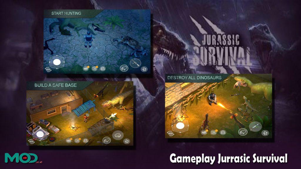 Gameplay Jurrasic Survival