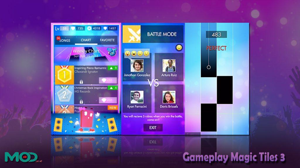 Gameplay Magic Tiles 3