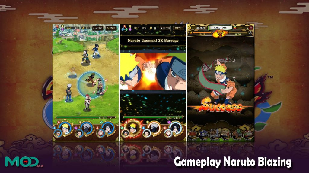 Gameplay Naruto Blazing