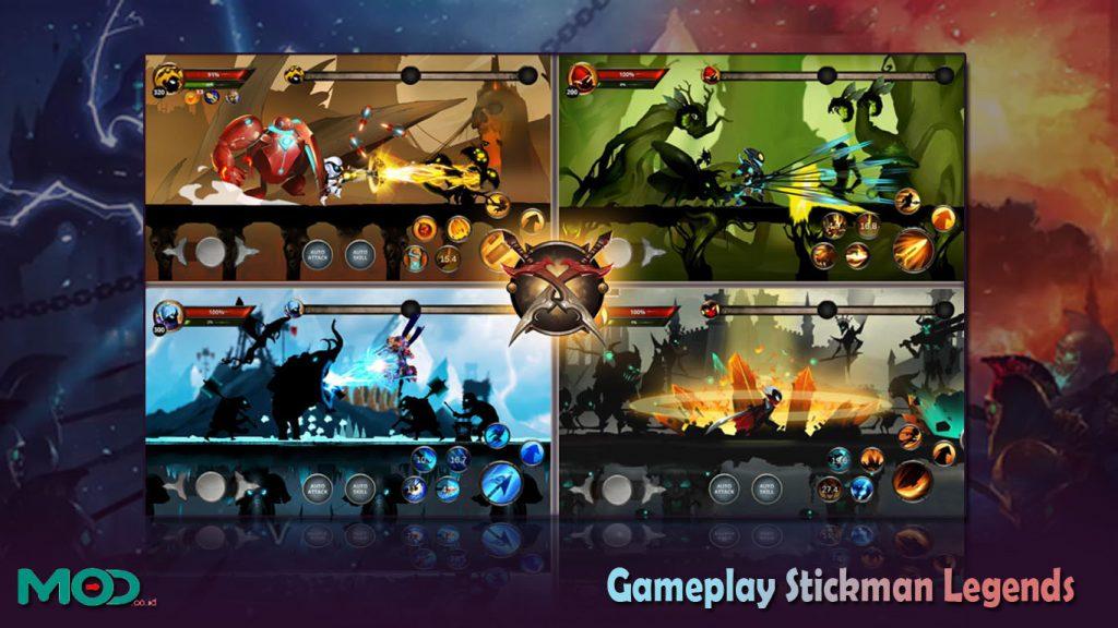 Gameplay Stickman Legends