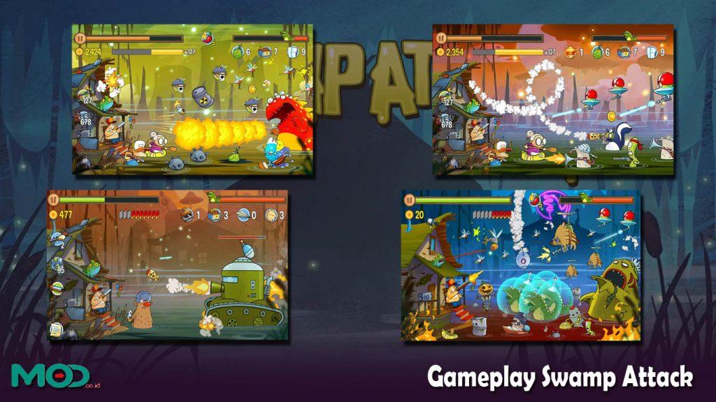 Gameplay Swamp Attack