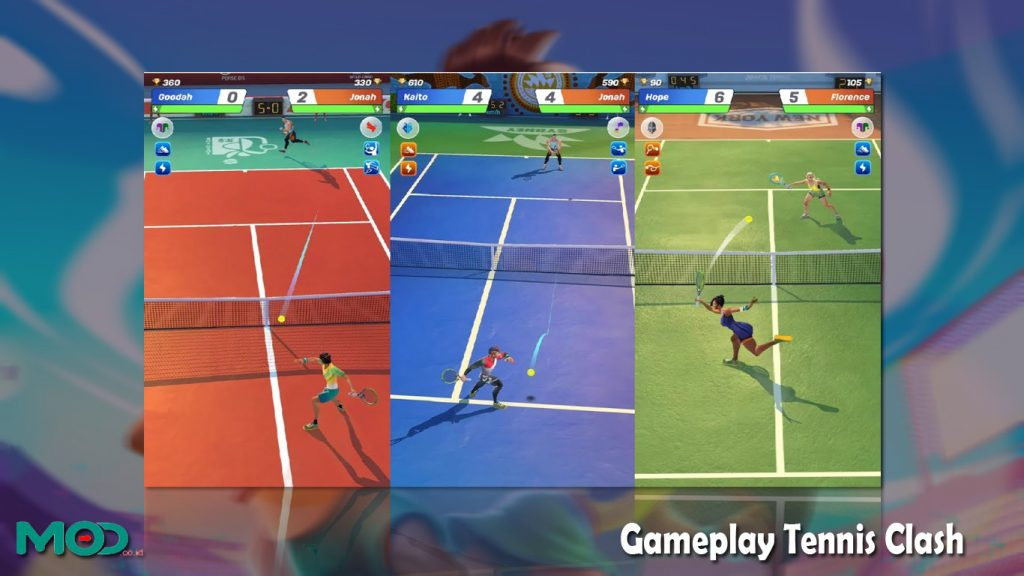 Gameplay Tennis Clash