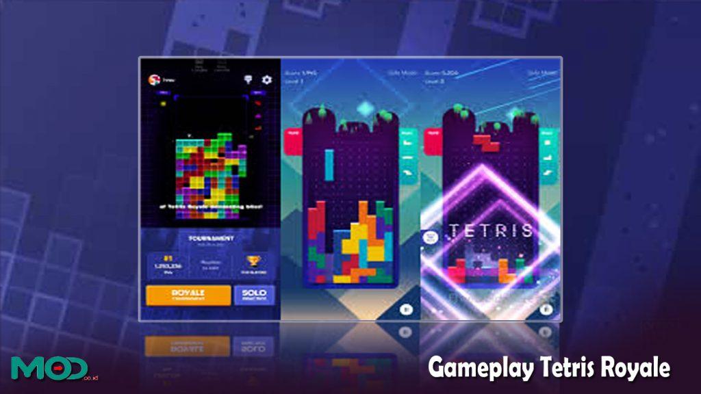 Gameplay Tetris Royale