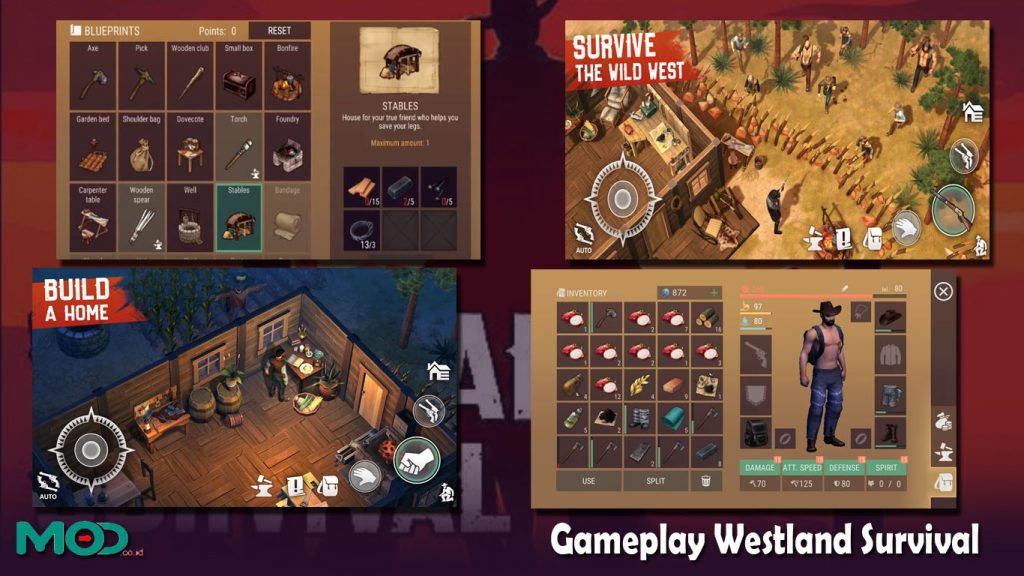 Gameplay Westland Survival