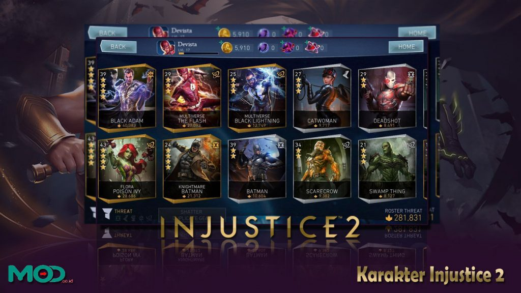 Karakter Injustice 2