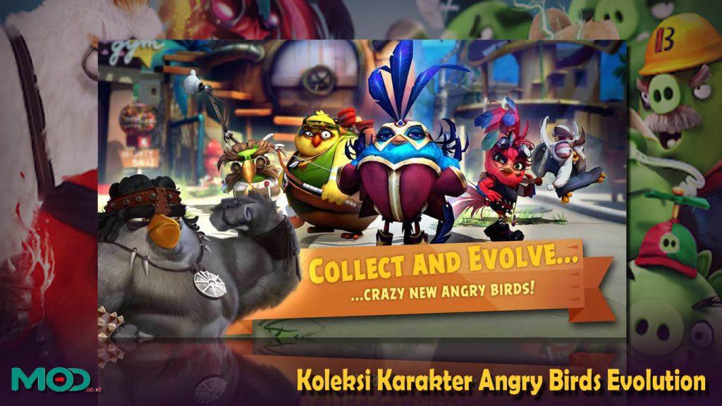 Koleksi Karakter Angry Birds Evolution